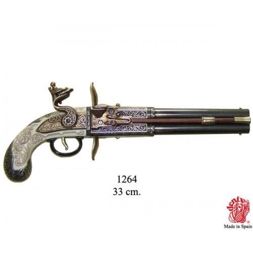 Pistola due cannoni girevoli Regno Unito 1750