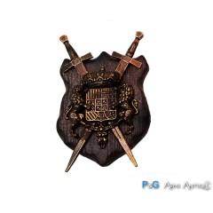 Calamita scudo antico oro