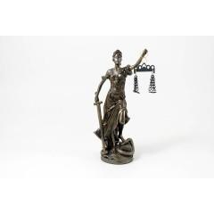 """Statua Dea """"Giustizia"""" bronzo 20 cm"""