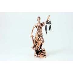 "Statua Dea ""Giustizia"" rame20cm"