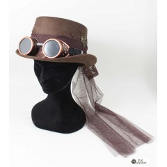 CAPPELLO STEAMPANK MARRONE